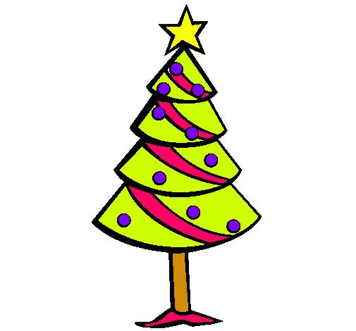 Dibujo De árbol De Navidad Ii Pintado Por Pino En Dibujosnet El Día
