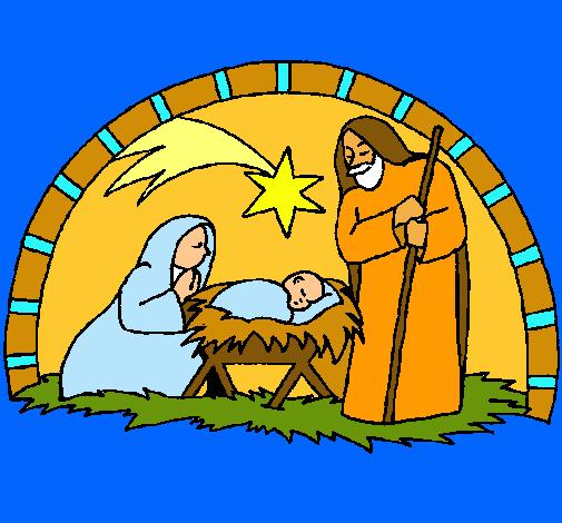 Dibujos de un nacimiento de navidad