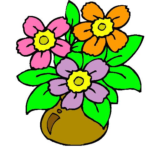 Dibujo De Jarrón De Flores Pintado Por Florero En Dibujosnet El Día