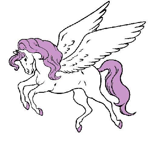 Dibujo De Pegaso Volando Pintado Por Alba Unicornio En