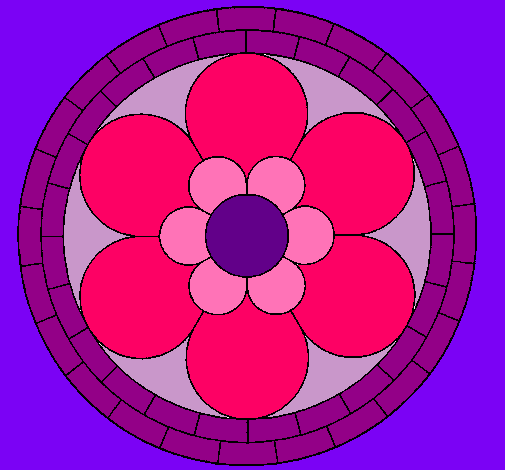 Dibujo De Mandala 2 Pintado Por Flores En Dibujos Net El Dia 30 12