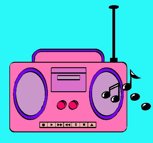 Dibujo De Radio Cassette 2 Pintado Por Juniorsito En Dibujosnet El
