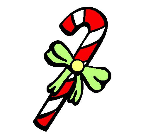 Dibujo de bastón de caramelo pintado por Gregorio en Dibujos.net el ...