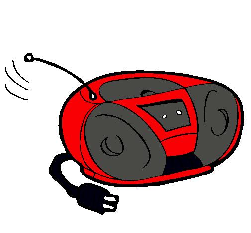 Dibujo De Radio Cassette Pintado Por Lionel En Dibujosnet El Día 29