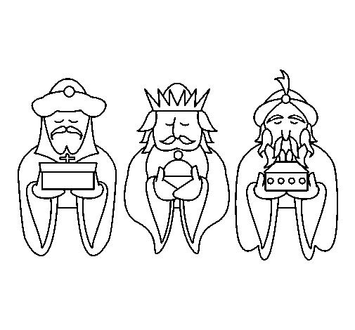 Dibujo De Los Reyes Magos 4 Pintado Por Yhto En Dibujosnet