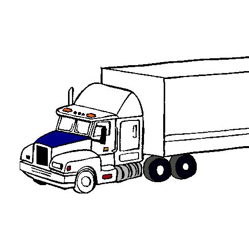 Dibujo De Camión Tráiler Pintado Por Yenny20 En Dibujosnet