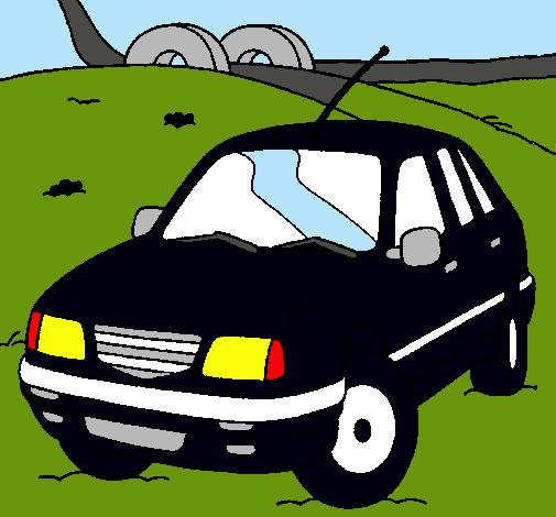 Dibujo De Coche En La Carretera Pintado Por Auto En Dibujosnet El