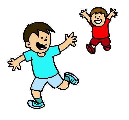 Dibujo De Hermanos Corriendo Pintado Por Toty En Dibujosnet El Día