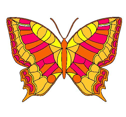 Dibujo De Mariposa Pintado Por Libra En Dibujosnet El Día 10 01 11