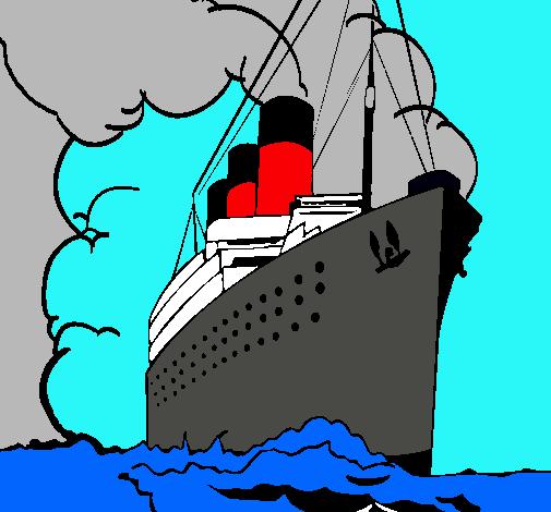 Dibujo de Barco de vapor pintado por Titanic en Dibujos ...