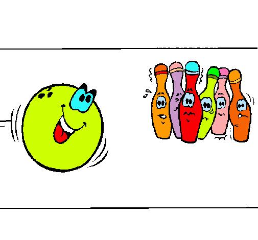 Dibujo de Bola y bolos pintado por Elisabel en Dibujos.net el día 11 ...