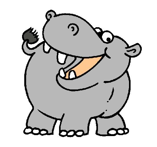 Dibujo de Hipopótamo pintado por Hipo en Dibujos.net el día 22-01-11 ...
