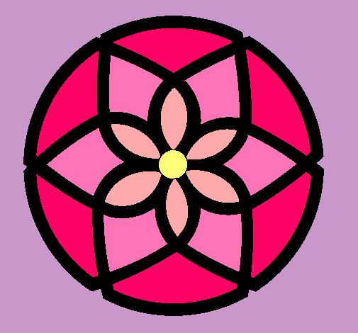 Dibujo De Mandala 44 Pintado Por Flores En Dibujos Net El Dia 22