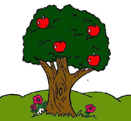 Dibujo De Manzano Pintado Por Arbol En Dibujos Net El Día 30