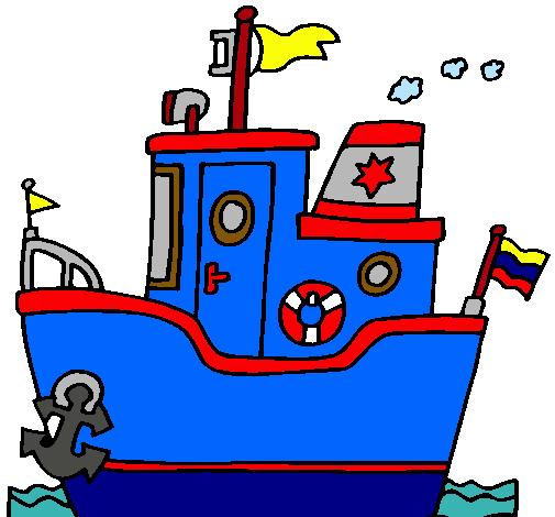 Dibujo De Barco Con Ancla Pintado Por Paballito En Dibujosnet El