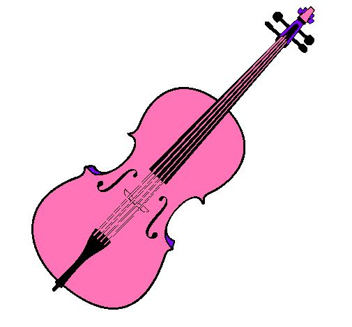 dibujo de violín pintado por ballet en dibujos el día 06-02-11
