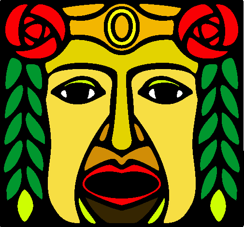 Dibujo De Máscara Maya Pintado Por Lydi En Dibujosnet El Día 06 02
