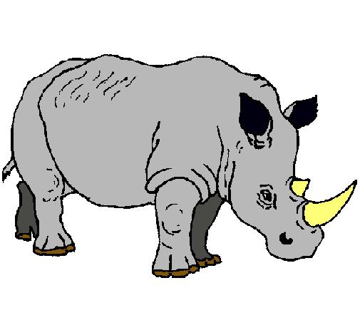 Dibujo de Rinoceronte pintado por Rock en Dibujos.net el día 10-02 ...