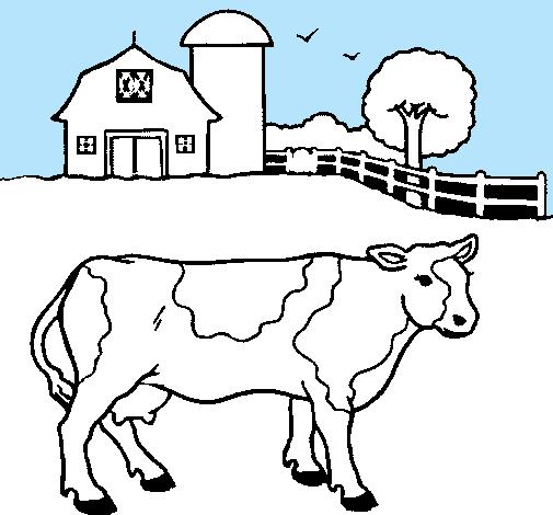 Dibujo de Vaca pasturando pintado por Frias en Dibujos.net el día 11 ...