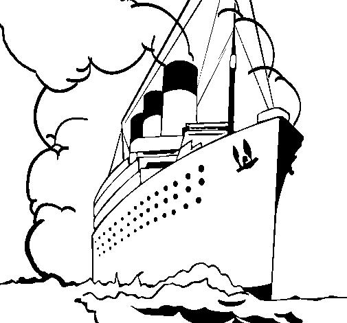 Dibujo de Barco de vapor pintado por Tren en Dibujos.net el día 08 ...