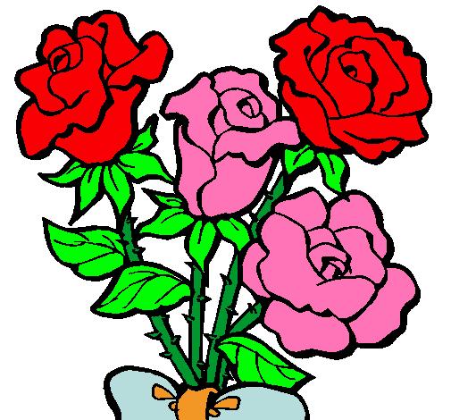Dibujo De Ramo De Rosas Pintado Por Rosas En Dibujosnet El Día 14