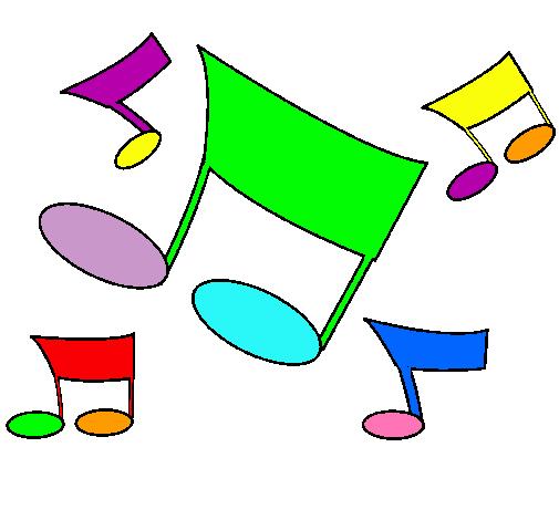 Dibujo De Notas Musicales Pintado Por Escrpio En Dibujosnet