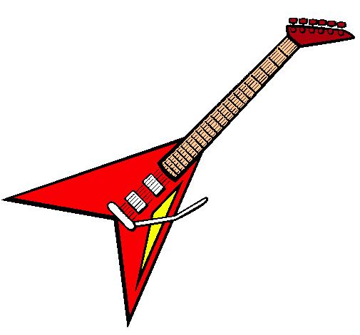 Dibujo de Guitarra eléctrica II pintado por Rock en Dibujos.net el ...