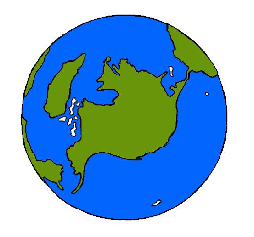 Dibujo De Planeta Tierra Pintado Por Mundo En Dibujosnet El Día 24