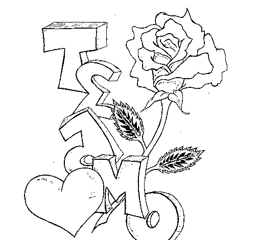 Dibujo De Un Corazn Con Rosas Para Nios Dibujos Compartir4 Corazn