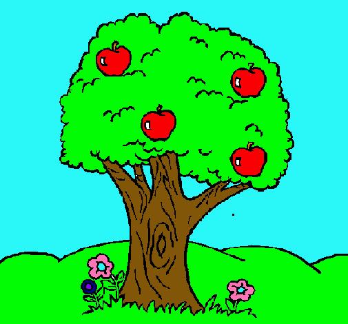 Dibujo De Manzano Pintado Por Arbol En Dibujos Net El Día 05
