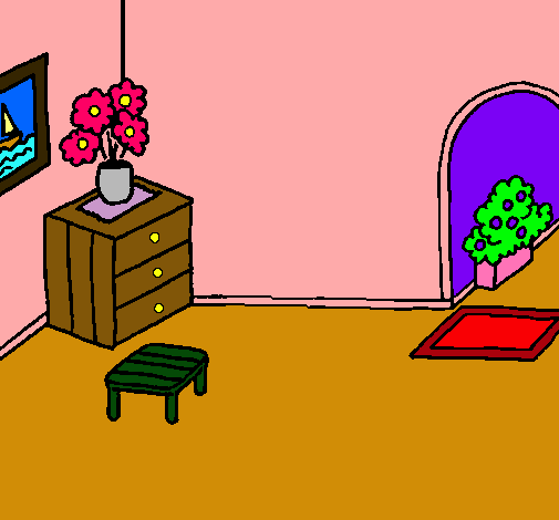 Dibujo De Casa Por Dentro Pintado Por Blanch8risas En