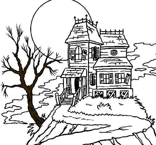 Dibujo de Casa encantada pintado por Rafy en Dibujos.net el día 16 ...