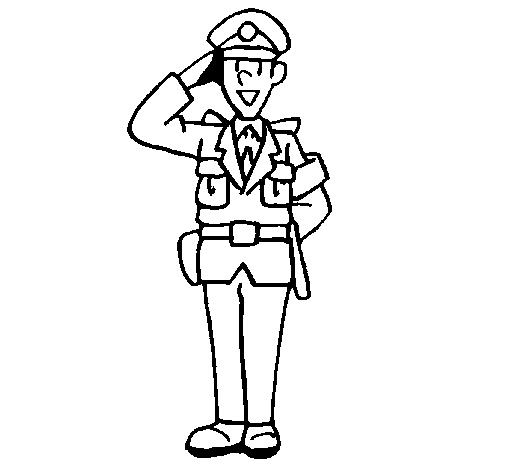 Dibujo de Policía saludando pintado por Florinda en Dibujos.net el ...