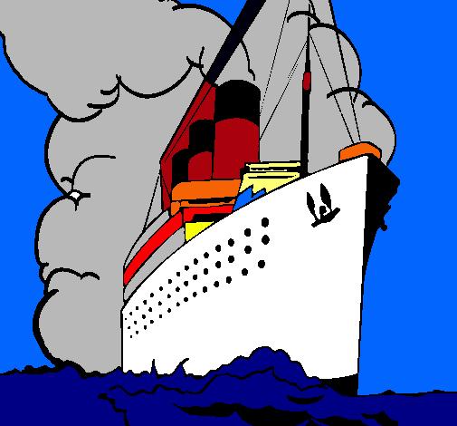 Dibujo de Barco de vapor pintado por Crucero en Dibujos.net el día ...