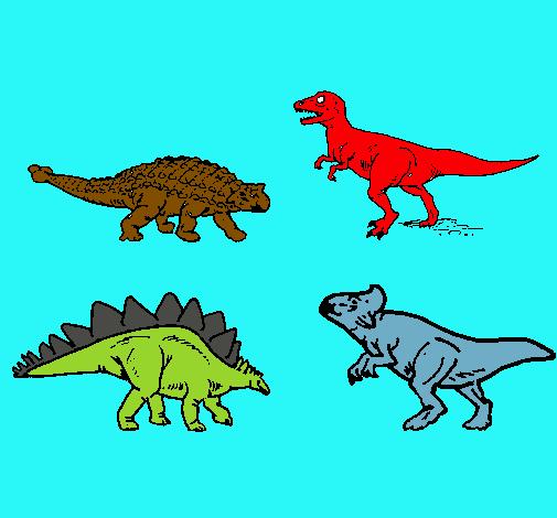 Dibujo De Dinosaurios De Tierra Pintado Por Dinorey En Dibujosnet