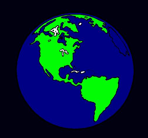 Dibujo De Planeta Tierra Pintado Por Planeta En Dibujosnet El Día