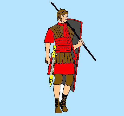 Dibujo De Soldado Romano Pintado Por Leirbag En Dibujos Net El Dia