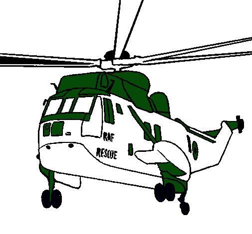 Dibujo de Helicóptero al rescate pintado por Ualter en Dibujos.net ...