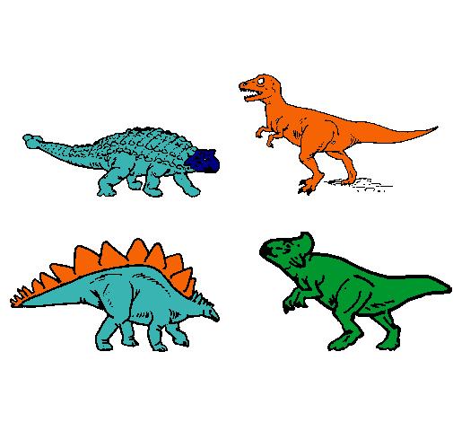 Dibujo De Dinosaurios De Tierra Pintado Por Dinodan En Dibujosnet