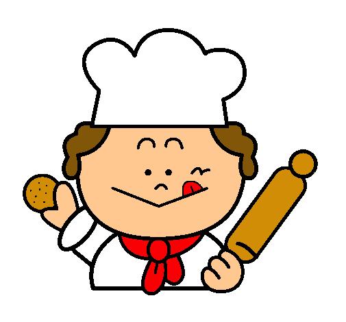 Dibujo de cocinero 2 pintado por rosaaaaaaaaa en dibujos for Dibujo de comedor escolar