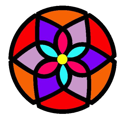 Dibujo De Mandala 44 Pintado Por Flores En Dibujos Net El Dia 06 04