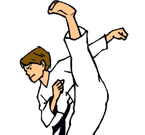 Dibujo De Patada De Kárate Pintado Por Karateka En Dibujosnet El