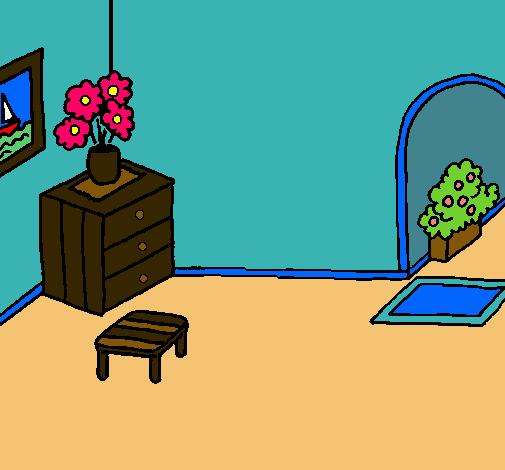 Dibujo De Casa Por Dentro Para Colorear Dibujos Net