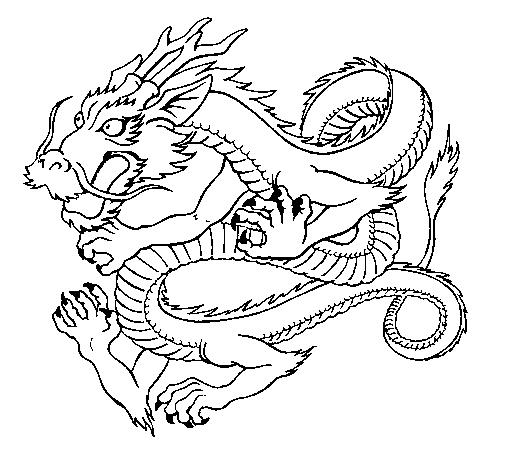 Dibujo De Dragón Japonés Pintado Por Cucu En Dibujosnet El