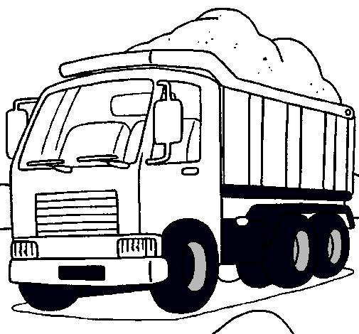 Dibujo de Camión de carga pintado por Santiagof en Dibujos.net el ...