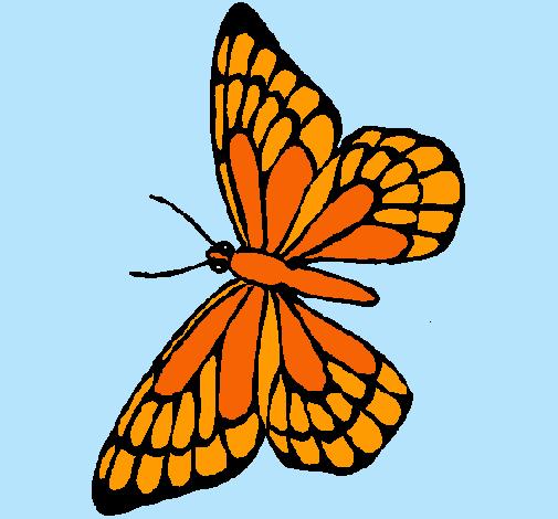 Dibujo De Mariposa Pintado Por Monarca En Dibujosnet El Día 26 04