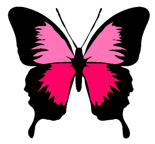 Dibujo de Mariposa con alas negras pintado por Jjui en Dibujos.