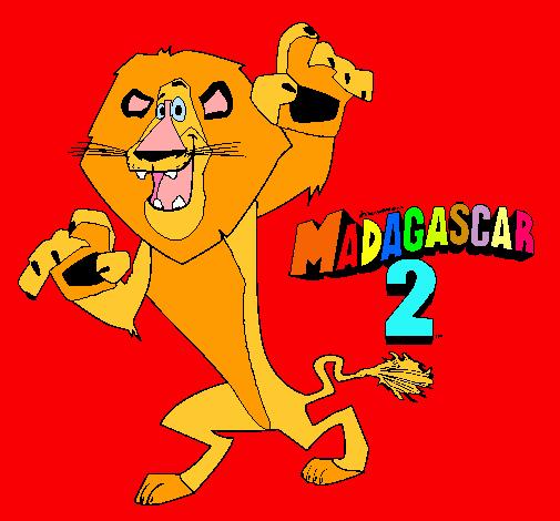 Dibujo De Madagascar 2 Alex Pintado Por Wippo En Dibujosnet