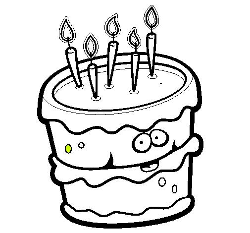 Dibujo de Pastel de cumpleaños 2 pintado por Juva en Dibujos.net el ...