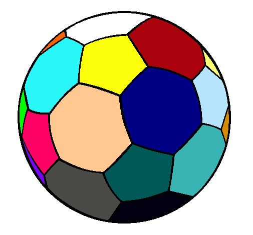 Dibujo de Pelota de fútbol II pintado por Color en Dibujos.net el ...